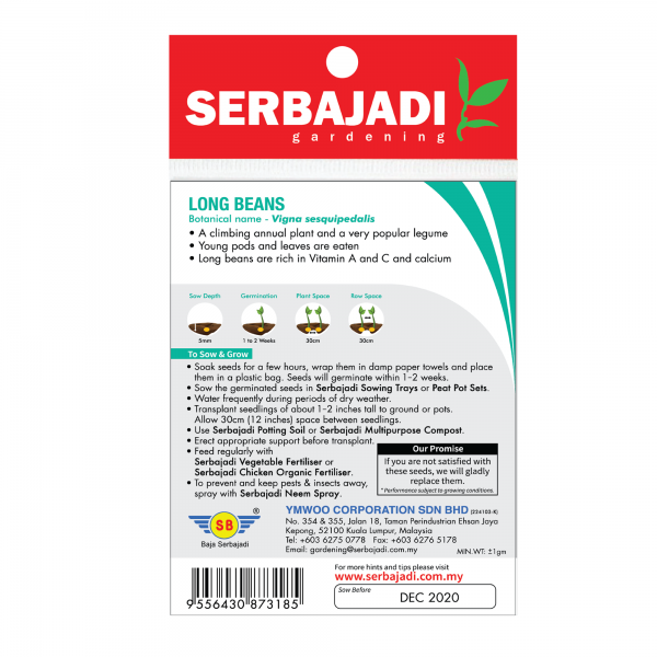 Serbajadi long beans seeds information